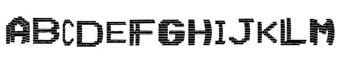 VHS Glitch 1 - Lower Font LOWERCASE