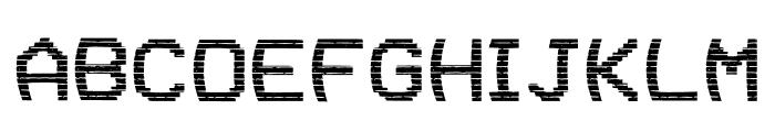 VHS Glitch 1 - Upper Font UPPERCASE