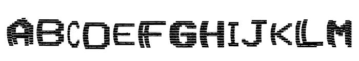VHS Glitch 1 - Upper Font LOWERCASE