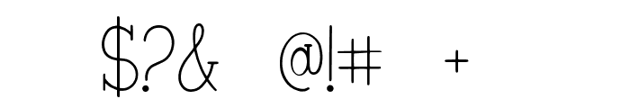 Veronica + Harold Font Regular Font OTHER CHARS