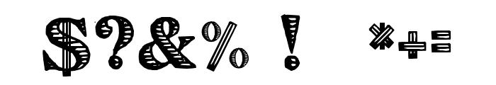 Victorian Alphabets A Regular Font OTHER CHARS