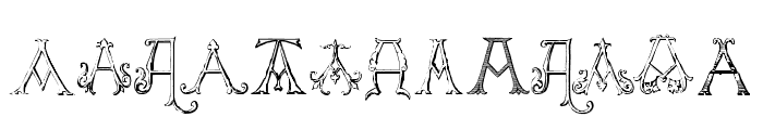 Victorian Alphabets A Regular Font UPPERCASE