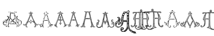 Victorian Alphabets A Regular Font LOWERCASE