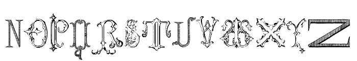 Victorian Alphabets Four Regular Font UPPERCASE