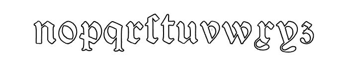 Victorian Alphabets Four Regular Font LOWERCASE