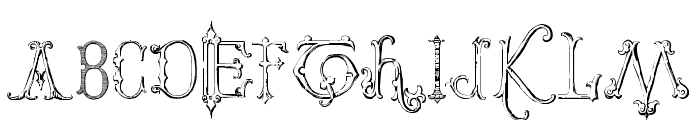 Victorian Alphabets Two Regular Font UPPERCASE