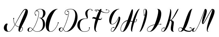Virgina Font UPPERCASE