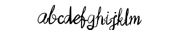 Virginia Font LOWERCASE