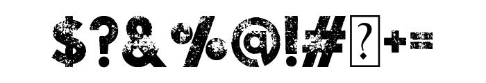 Visage Bold Demolished Font OTHER CHARS