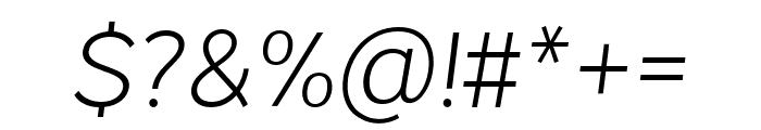 VistolSans-ExtraLightItalic Font OTHER CHARS