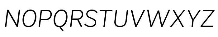 VistolSans-ExtraLightItalic Font UPPERCASE
