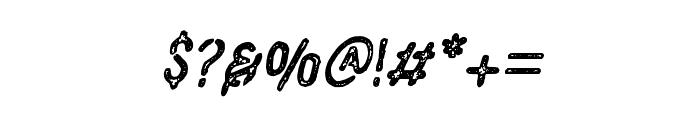 VulturemotorVintage-Italic Font OTHER CHARS