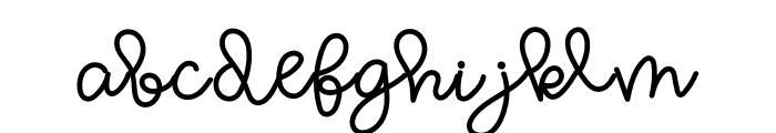 WL Wooden Boomerang Script Font LOWERCASE