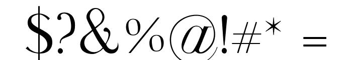 Walina Regular Font OTHER CHARS