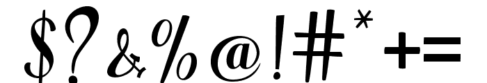 WarriorScript Font OTHER CHARS
