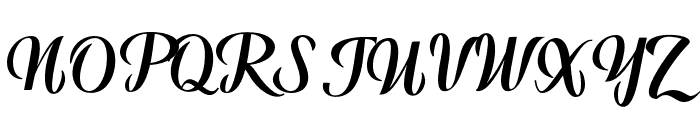 WarriorScript Font UPPERCASE