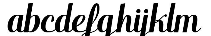 WarriorScript Font LOWERCASE