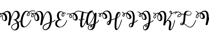 Watermelon Script Font UPPERCASE