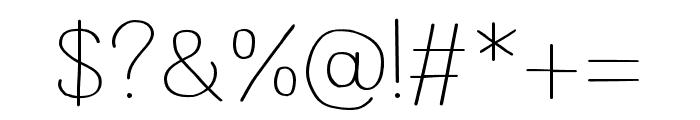 Wayago Regular Font OTHER CHARS