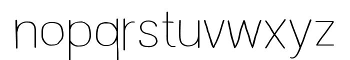 Wayago Regular Font LOWERCASE