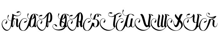 Wedding Font UPPERCASE