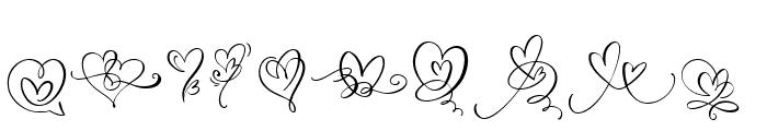 WeddingHeartMonogram Font OTHER CHARS