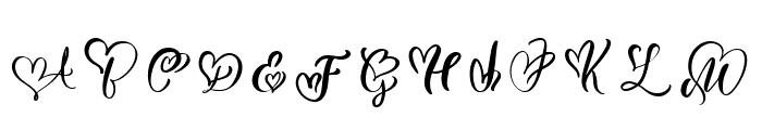WeddingHeartMonogram Font UPPERCASE