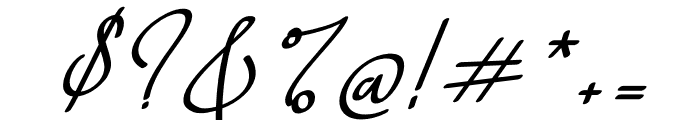 Weekdays Santtuy Italic Font OTHER CHARS