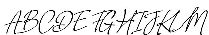 Weekdays Santtuy Italic Font UPPERCASE