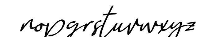 Weekdays Santtuy Italic Font LOWERCASE