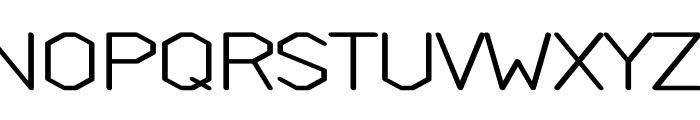 Weight regular Font UPPERCASE