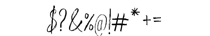WeisshornBrush Font OTHER CHARS