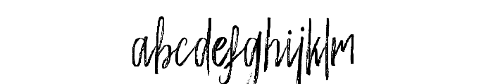 WeisshornBrush Font LOWERCASE