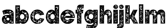WeisshornRough Font LOWERCASE