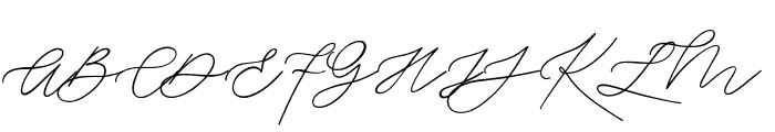 Weisston Script Font UPPERCASE