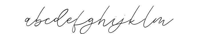 Weisston Script Font LOWERCASE