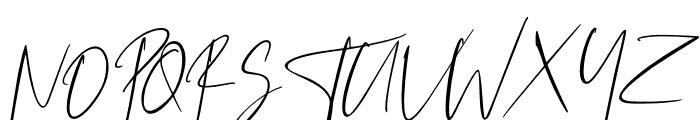 Westony Slant Italic Font UPPERCASE