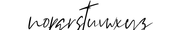 Westony Slant Italic Font LOWERCASE