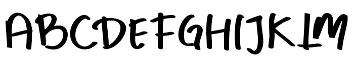 Whay hughes Font UPPERCASE
