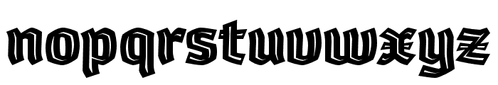 Whisky-1890-Inline Font LOWERCASE