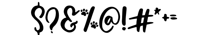 White Paws Font OTHER CHARS