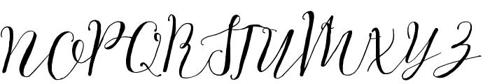 White Snowfall Font UPPERCASE