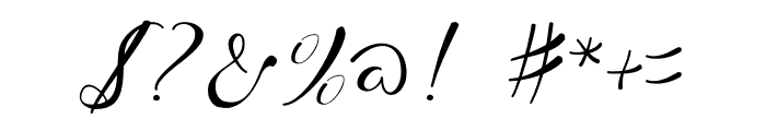 WhiteMoon Font OTHER CHARS
