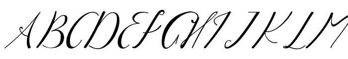 WhiteMoon Font UPPERCASE