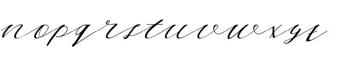 WhiteMoon Font LOWERCASE