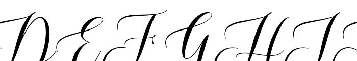 WhitedoveScript Font UPPERCASE