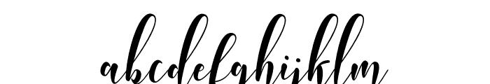 WhitedoveScript Font LOWERCASE