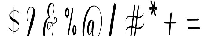 WhitelyaScript-Regular Font OTHER CHARS