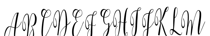 WhitelyaScript-Regular Font UPPERCASE