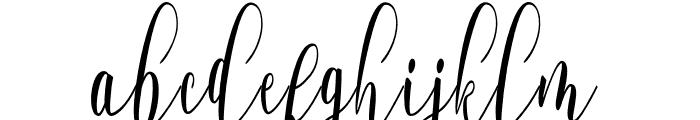 WhitelyaScript-Regular Font LOWERCASE